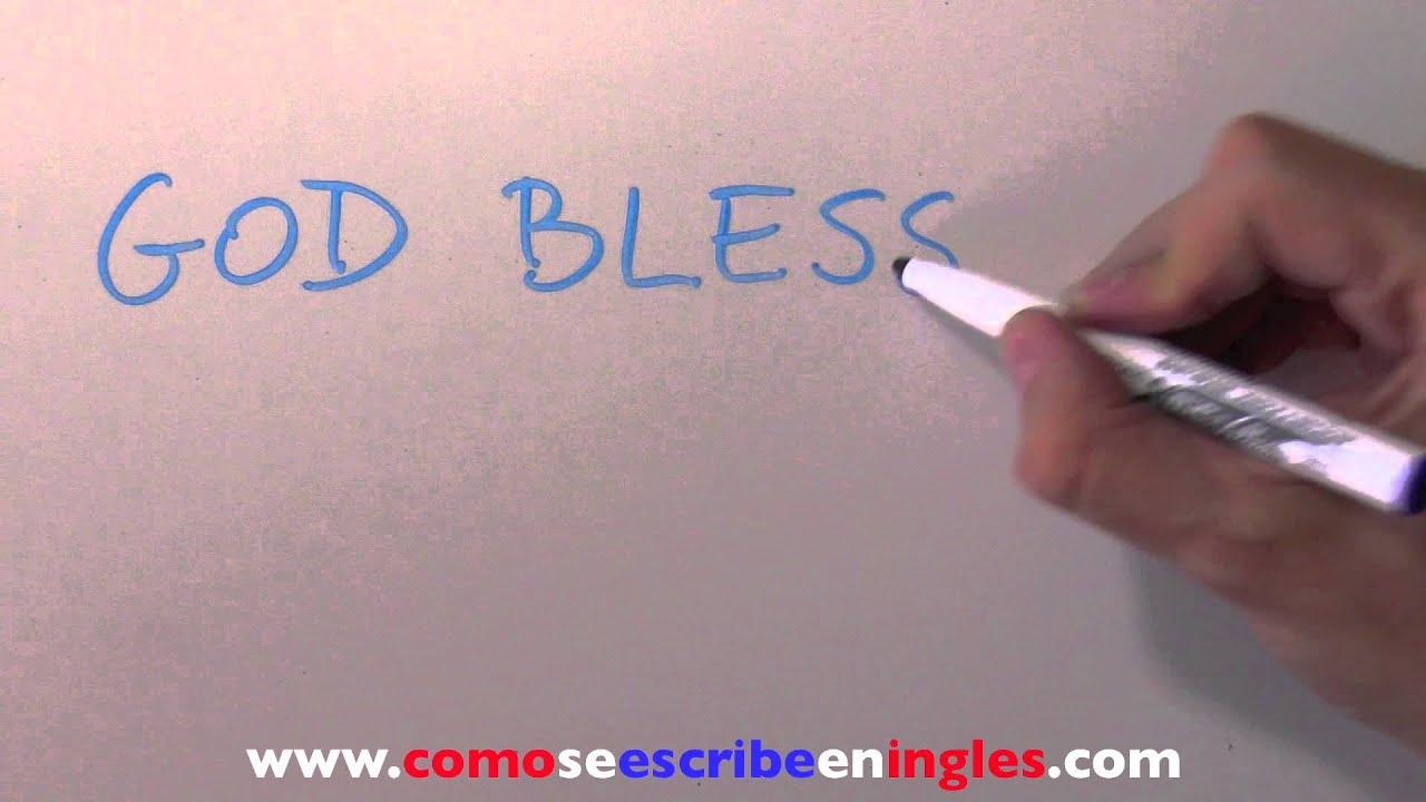 Aparador Dinn Jader Almeida ~ Cómo se escribe en inglés DIOS TE BENDIGA YouTube