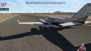 X-Plane Streaming Adventures: KBLH to KPRC Featuring Piper Cheyenne II