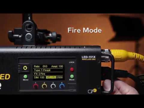 Kino Flo True Match® Firmware 3.0 - Fire Mode