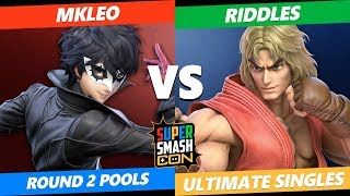 SSC 2019 SSBU - FOX MVG MkLeo (Joker) VS  Riddles (Ken) Smash Ultimate Round 2 Pools