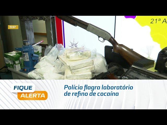 Polícia flagra laboratório de refino de cocaína em Rio Largo