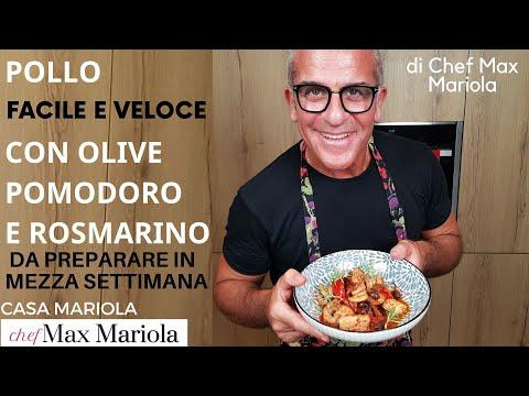POLLO CON POMODORINI OLIVE E ROSMARINO #ricetta #facile e #veloce di @ChefMaxMariola da #CasaMariola
