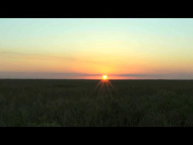 リラックス動画(地平線に沈む夕日編1)