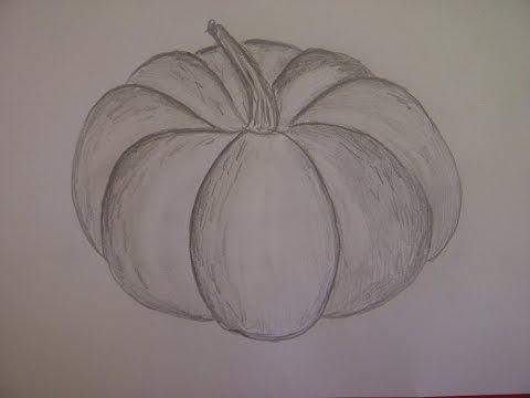 Einen Kürbis für Halloween zeichnen. Malen Lernen, Online. How to Draw a Pumpkin