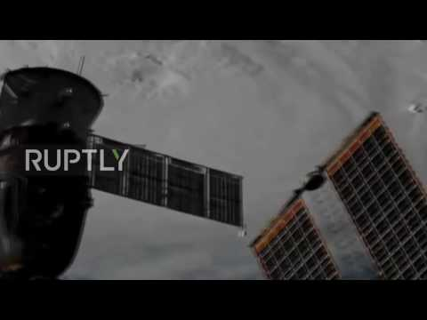 ISS: Satellite images from the ISS capture Hurricane Matthew