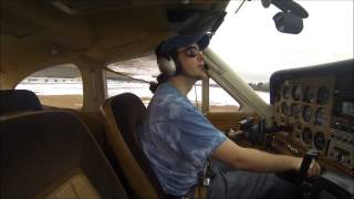 2 Trips around the pattern at Nashua (ASH) in a Cessna Cardinal RG