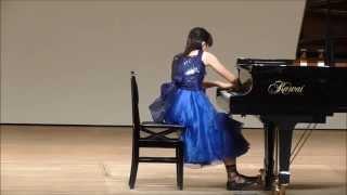 第12回中津An die Musik ピアノコンクール 小5・6年生コース自由曲 第1位  河津 璃子