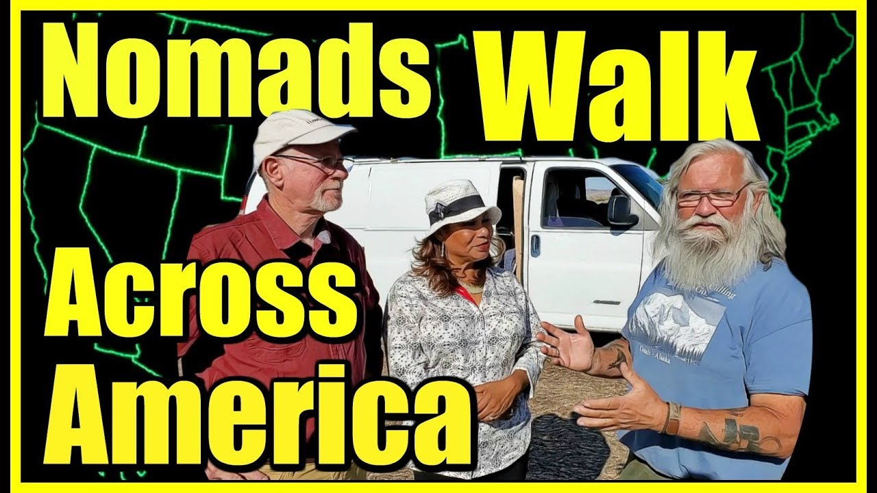 (25) Adventurous Vandwellers Walk Across America For Hope: Atlantic to Pacific Oceans Rob and Marvy
