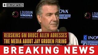 Washington Redskins GM Bruce Allen speaks to the press about Jay Gruden Firing | CBS Sports HQ