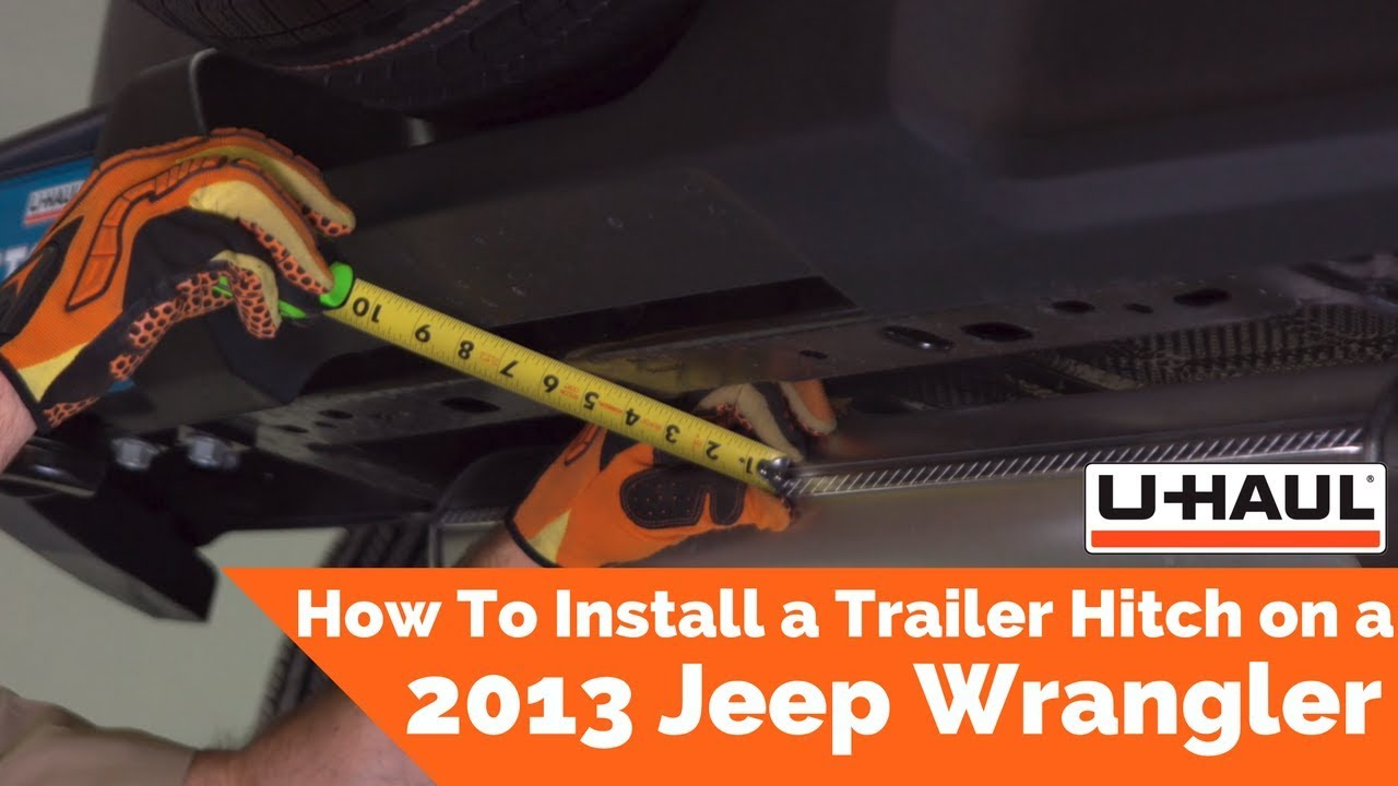 How to install a trailer hitch on a 2013 Jeep Wrangler YouTube