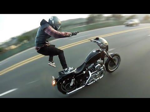 Harley Wheelie Crashes 2017 💀 Dyna, Sportster, Custom Choppers