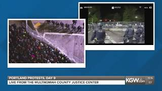 Portland protests: Both sides of the fence (WARNING: GRAPHIC LANGUAGE)