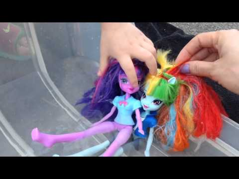 My Little Pony Pool Party! Equestria Girls Mlp Toy Play. Cutie Mark Magic.
