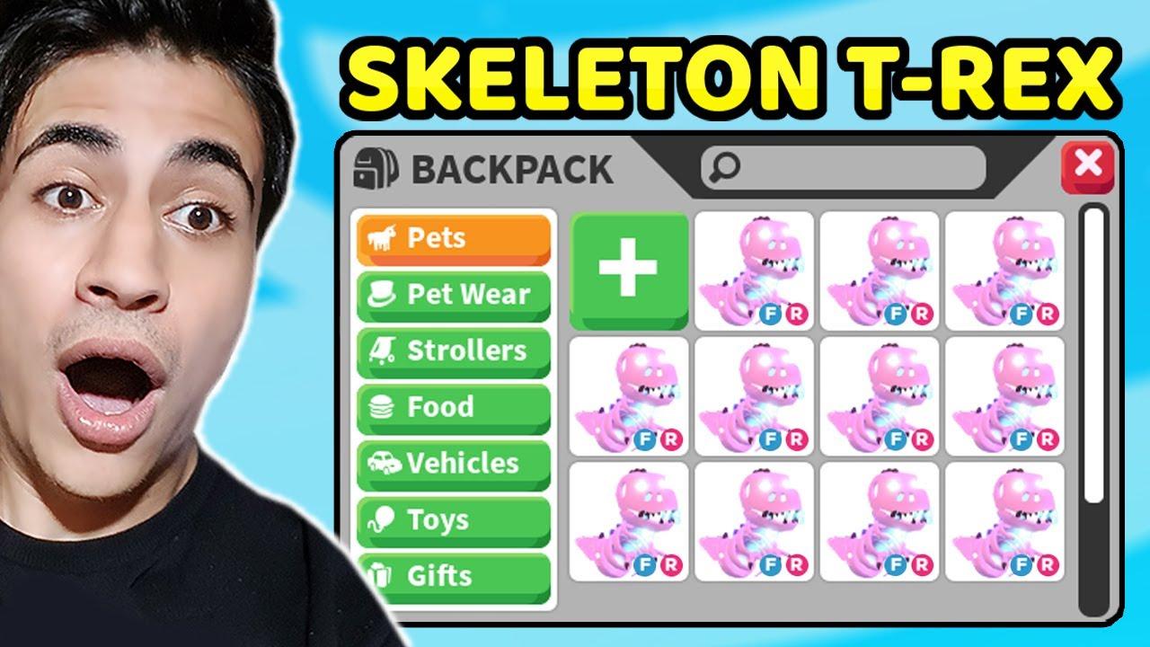 YENİ SKELETON T-REX PET GELDİ !? HALLOWEEN PET !! ( Roblox Adopt Me )