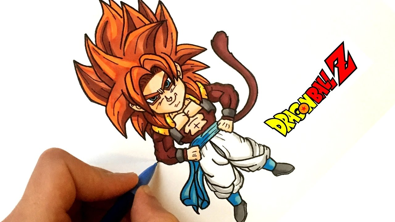 Dessin gogeta ssj4 chibi dragon ball z youtube - Dessin de dragon ball ...