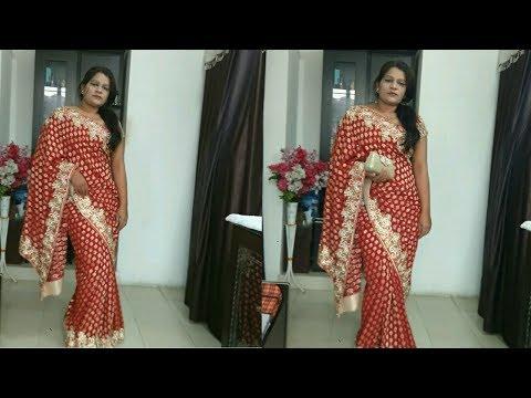 Vidhya balan Style Saree Draping Tutorial