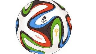 How to draw a Brazuca ball