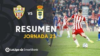 Resumen de UD Almería vs Real Oviedo (2-0)