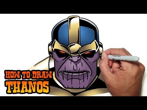 How to Draw Thanos   Marvel Comics