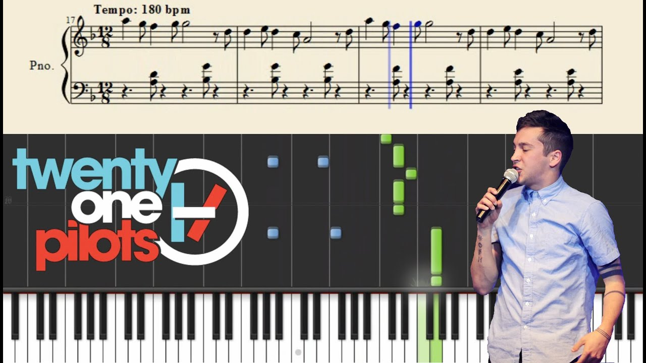 Twenty One Pilots Message Man Piano Tutorial Sheets Chords