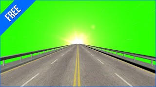 Dirigindo na Estrada 1   Driving on the Road 1  Green Screen   Chroma Key