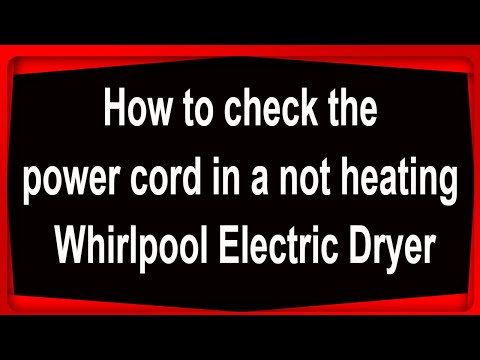 Checking A 3 Prongs Dryer Cord