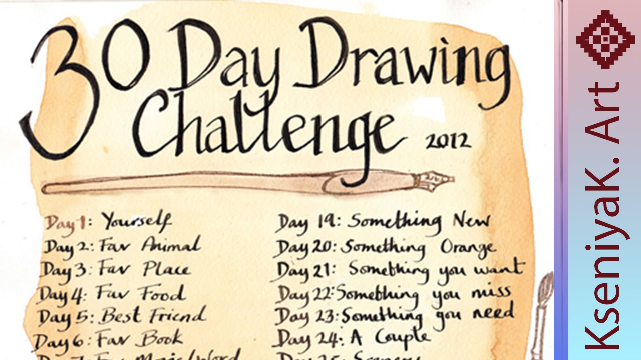30 Day Drawing Challenge - YouTube