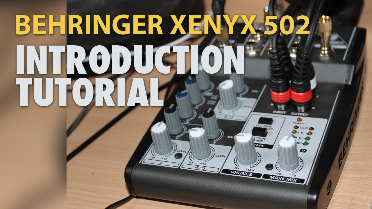 how to hook up an audio mixer to a pc introduction to behringer xenyx 502 english hd youtube [ 1280 x 720 Pixel ]