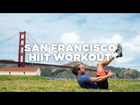 20 Minute Beginners HIIT Workout | San Francisco | The Body Coach x Hostelworld