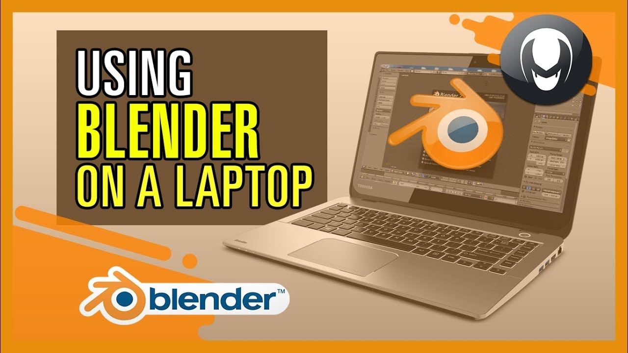Blender Beginner Tutorial - How to use blender 3d on a laptop
