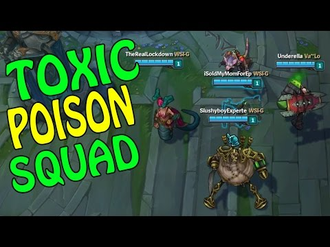 TOXIC POISON SQUAD - Twitch, Cassio, Teemo, Singed, Urgot