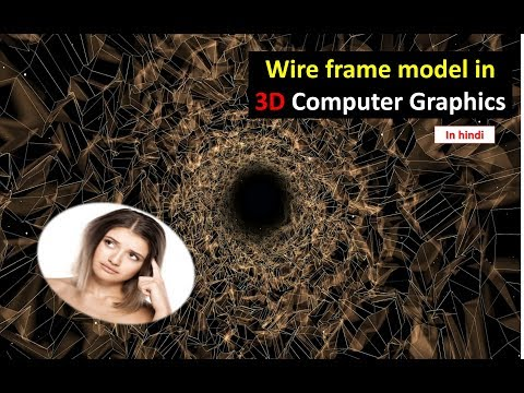 Wire frame model in 3 D computer graphics in HINDI