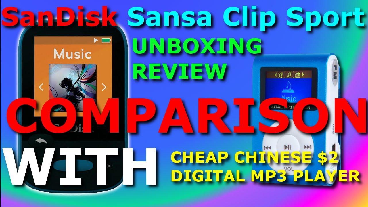 Repeat Sansa Clip Sport (Blue 8GB) full In-Depth unboxing
