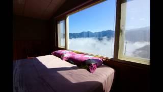 觀霧加草房間看雲海