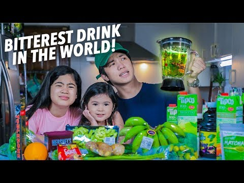 BITTEREST DRINK IN THE WORLD!! (ANG PAIT!) | Ranz and Niana