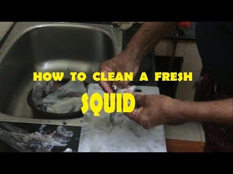 HOW TO CLEAN SQUID-കണവ