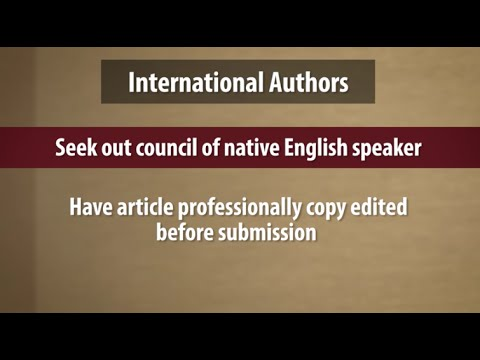 Peer Review Video #4: International Submissions and Authors
