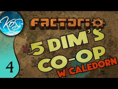 Factorio 5Dim's Co-op Ep 4: ALL THE LONG INSERTERS - MP with Caledorn, Let's Play, Gameplay