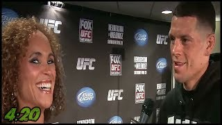Karyn Bryant BOMBS with 420 joke while talking with Nate Diaz