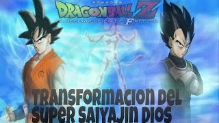 Dragon Ball Z 2015 La Resurrección de Freezer Nueva Transformación  Super Saiyan God Super Saiyan