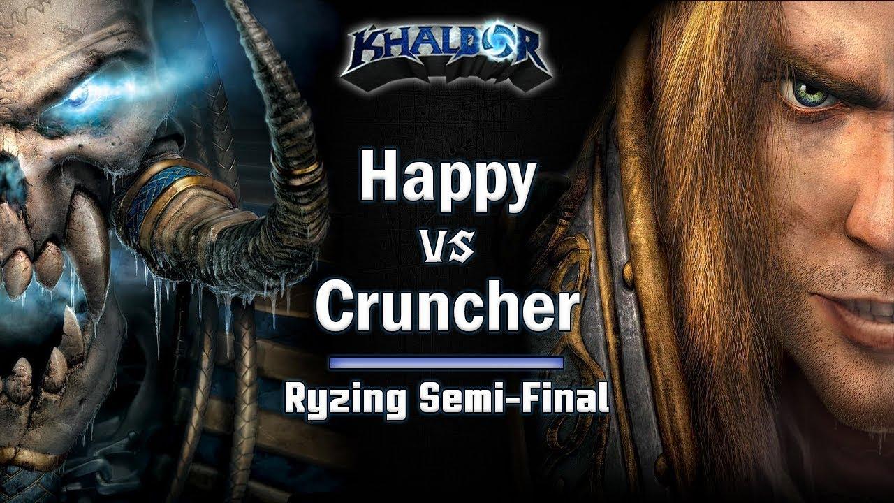 ► WarCraft 3 - Happy (UD) vs. Cruncher (HU) - Ryzing Cup #6