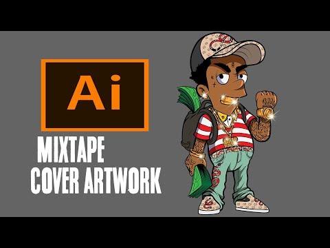Mixtape Cover Artwork - Adobe Illustrator Speedart