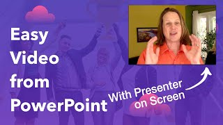 Convert PowerPoint Presentation to video on mac (with presenter visible)