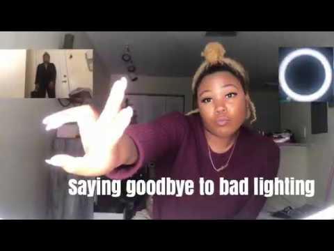 "SAYING GOODBYE TO BAD LIGHTING | LED RING LIGHT 18"" REVIEW  | MOUNT DOG | Cralisa Victoria"