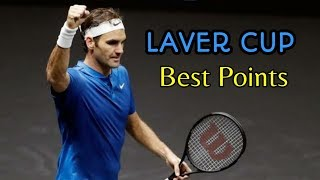 Roger Federer - Best Points in Laver Cup Singles (HD)