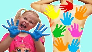 LEARN COLORS FOR CHILDREN BODY PAINT Johny Johny yes papa