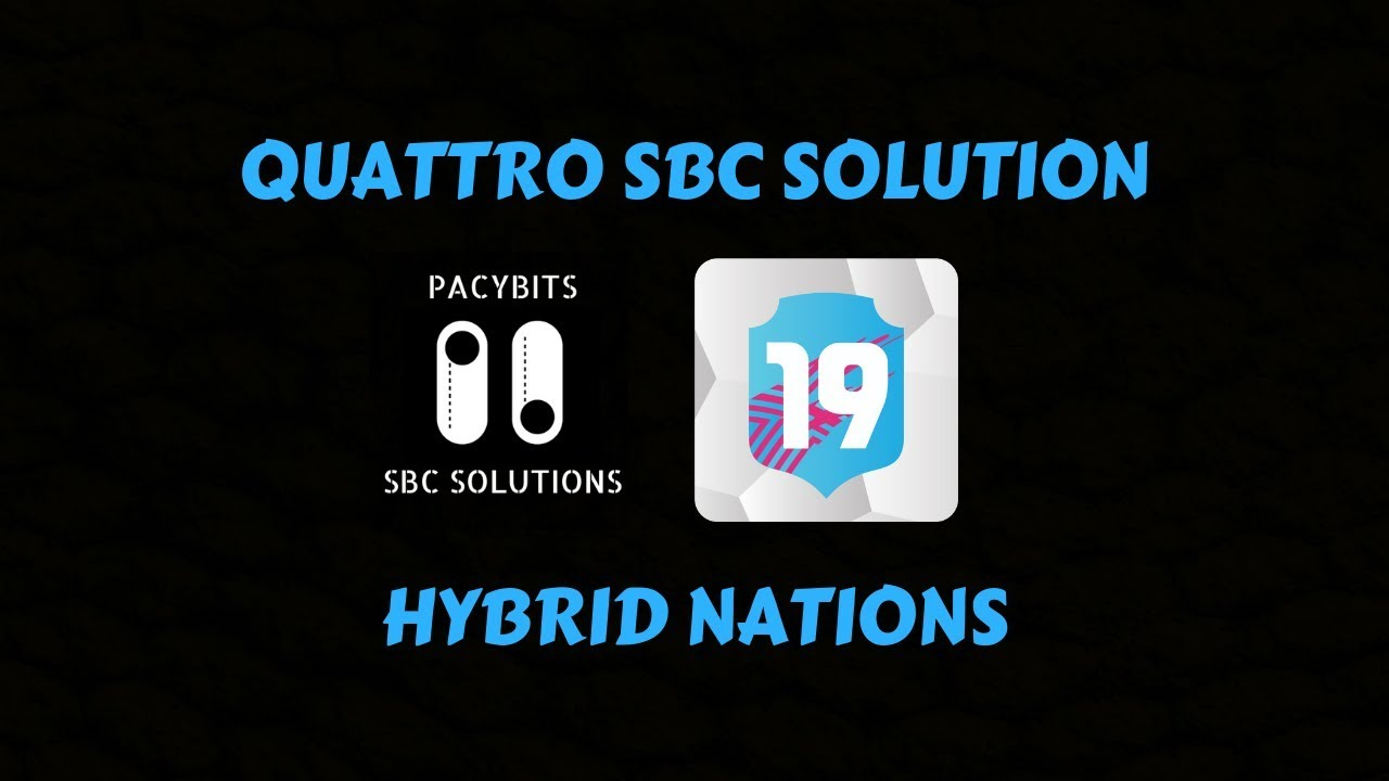 Rare Talent League And Nation Hybrid Sbc Fut 19 By Pacybits By Pacybits20sbc Montinivic