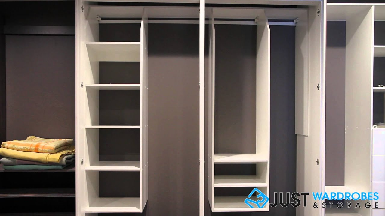 Jws Hinge Door Suspended Melamine Wardrobe System Youtube