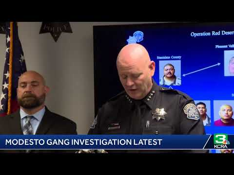 Modesto police are detailing a gang investigation that resulted in