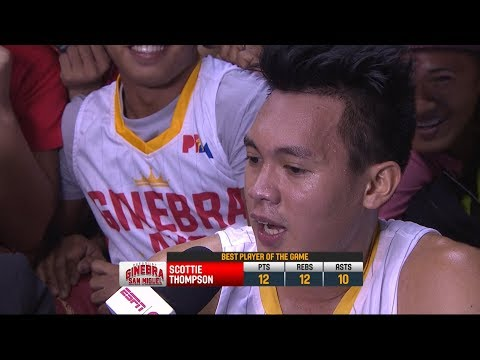 Best Player: Scottie Thompson  PBA Commissioner's Cup 2018